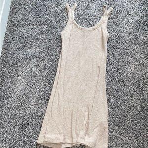Tan swing dress
